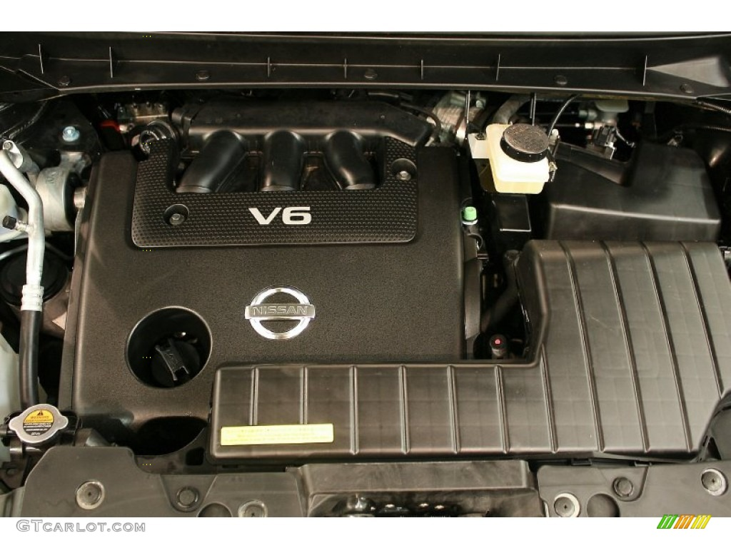 2011 Murano SV AWD - Super Black / Black photo #24