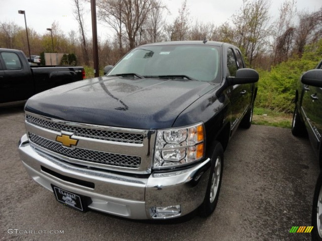 2012 Silverado 1500 LT Extended Cab - Imperial Blue Metallic / Ebony photo #1