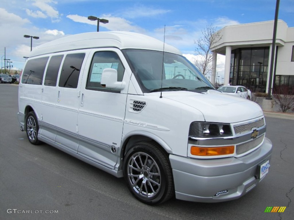 2012 summit white chevrolet express 1500 awd passenger conversion van 63780882. Black Bedroom Furniture Sets. Home Design Ideas