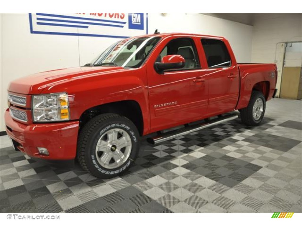 2012 Silverado 1500 LT Crew Cab 4x4 - Victory Red / Light Titanium/Dark Titanium photo #1