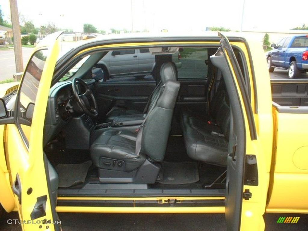 Graphite Interior 2002 Chevrolet Silverado 3500 LT Extended Cab Dually Photo #63856945