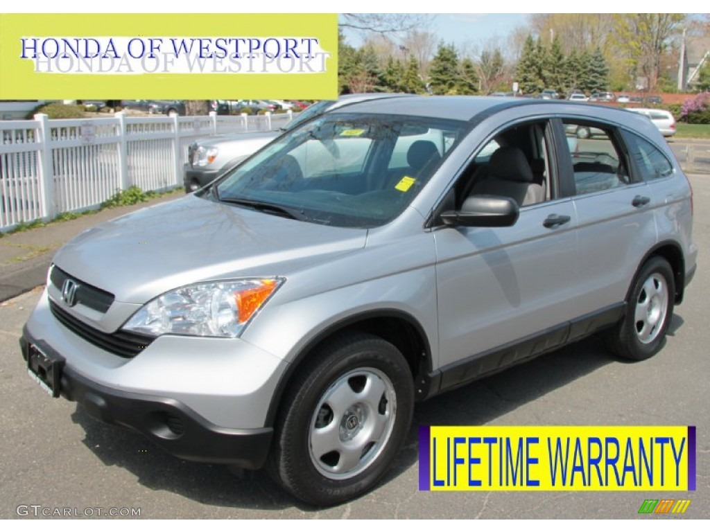 2009 CR-V LX 4WD - Alabaster Silver Metallic / Gray photo #1