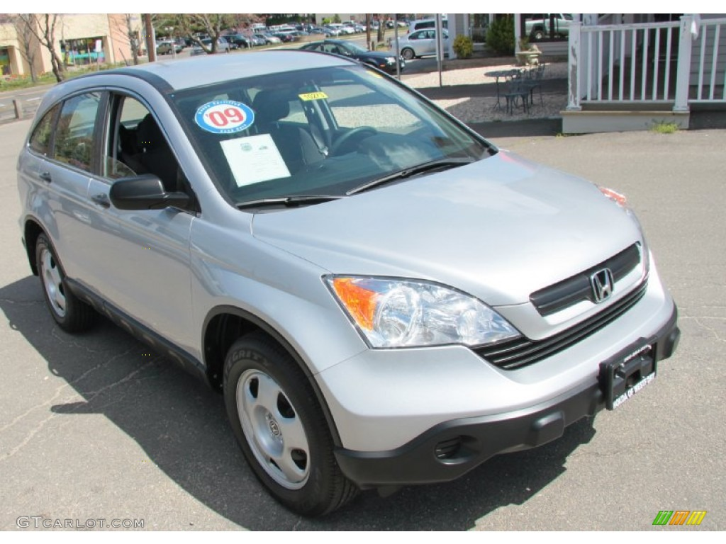 2009 CR-V LX 4WD - Alabaster Silver Metallic / Black photo #3