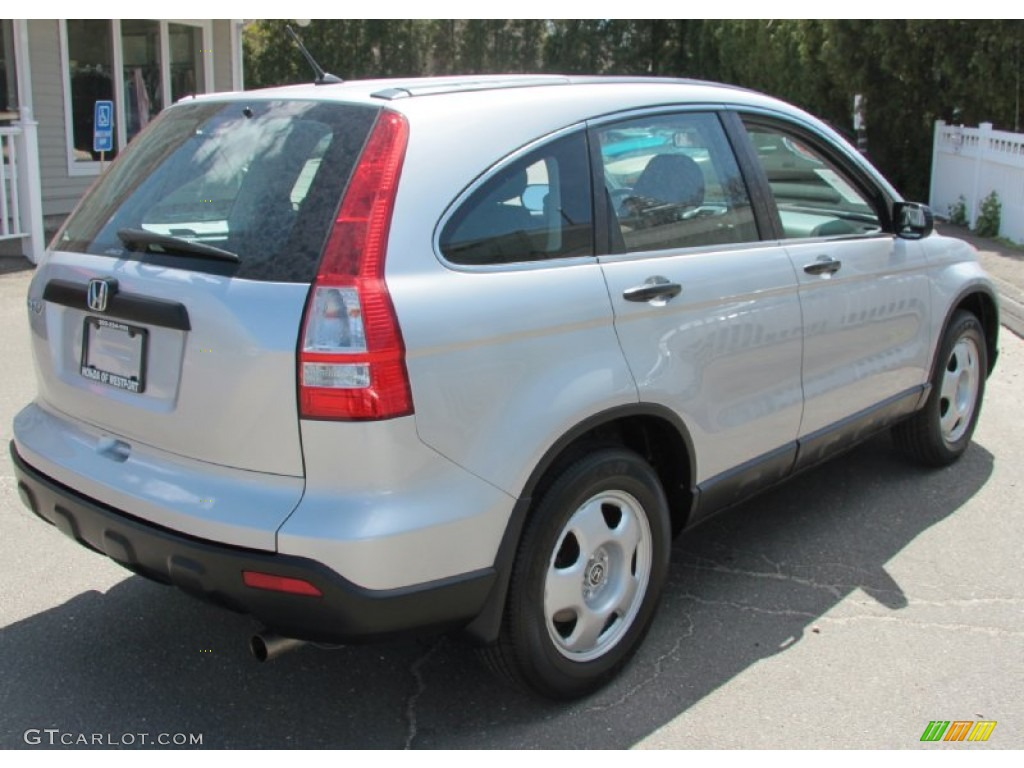 2009 CR-V LX 4WD - Alabaster Silver Metallic / Black photo #6