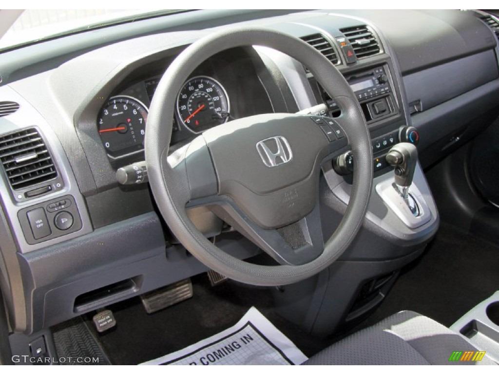 2009 CR-V LX 4WD - Alabaster Silver Metallic / Black photo #13