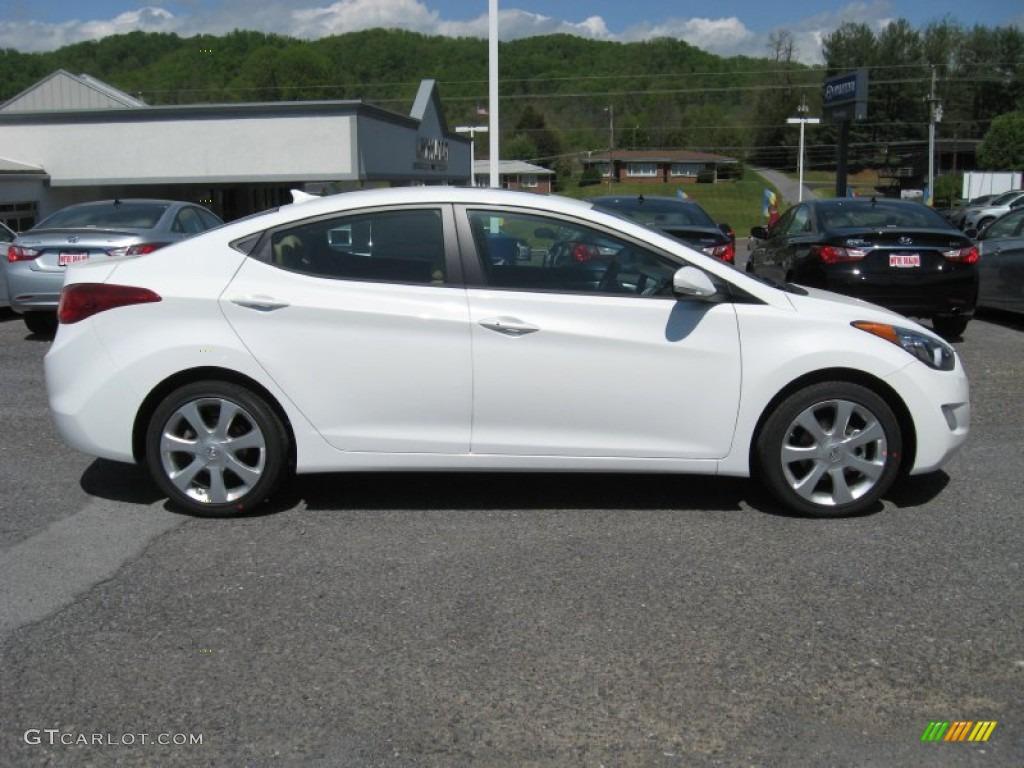 2013 Shimmering White Hyundai Elantra Limited 63871182