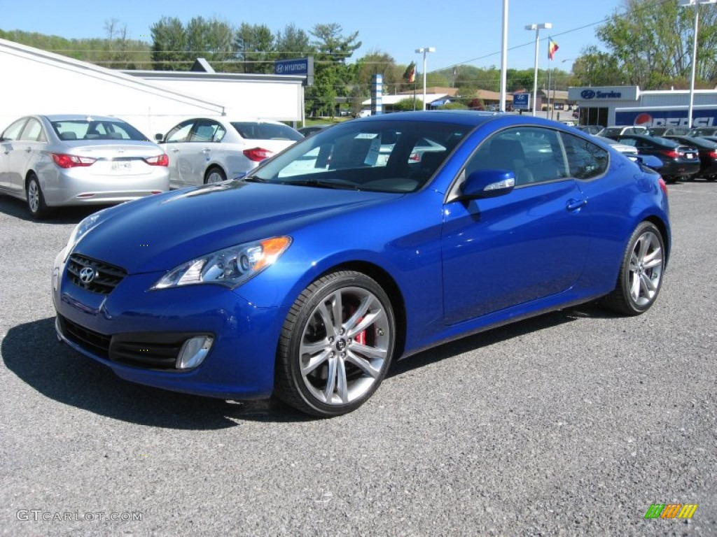 2012 mirabeau blue hyundai genesis coupe 3 8 track 63871179 photo 2 car color. Black Bedroom Furniture Sets. Home Design Ideas