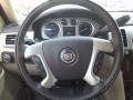2012 Cadillac Escalade Cashmere/Cocoa Interior Steering Wheel Photo