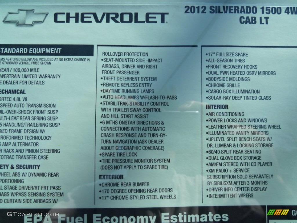 2012 Silverado 1500 LT Extended Cab 4x4 - Graystone Metallic / Ebony photo #40