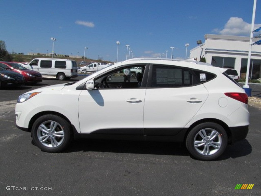 2012 Cotton White Hyundai Tucson Gls 63871103 Photo 3