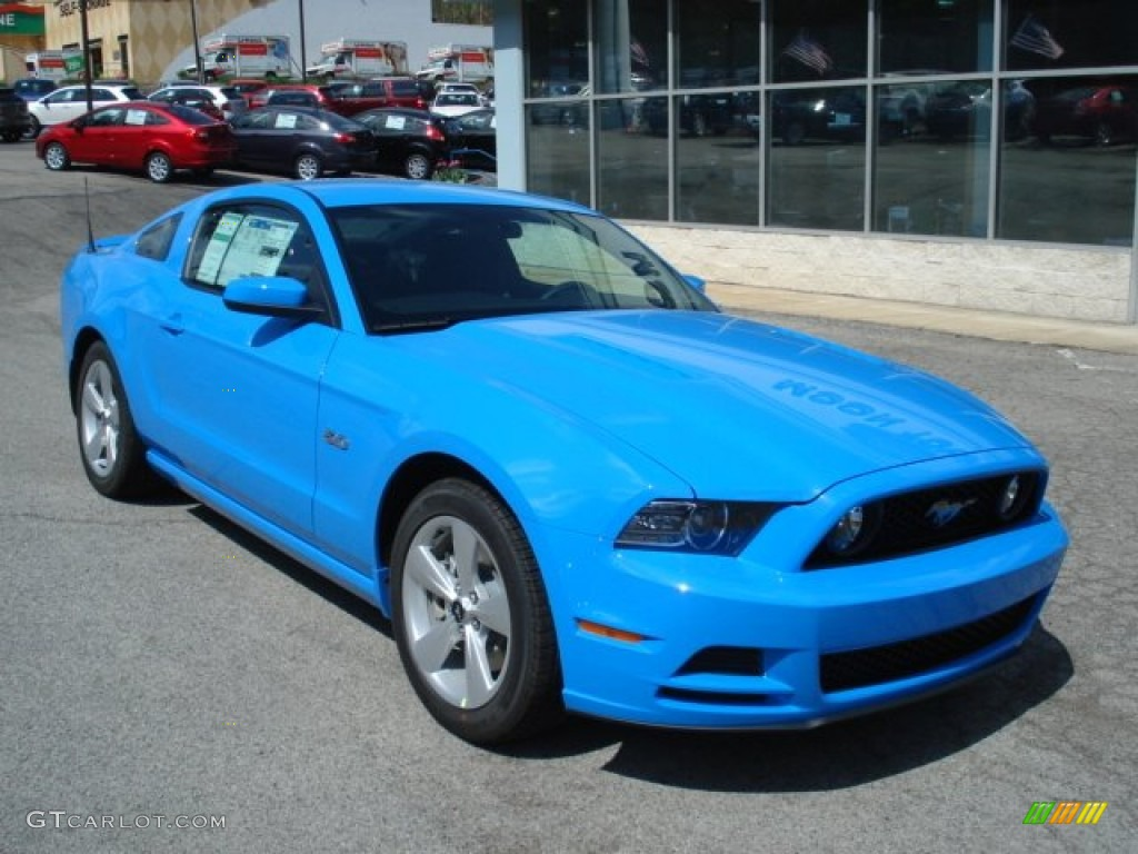 Grabber Blue 2013 Ford Mustang Gt Coupe Exterior Photo