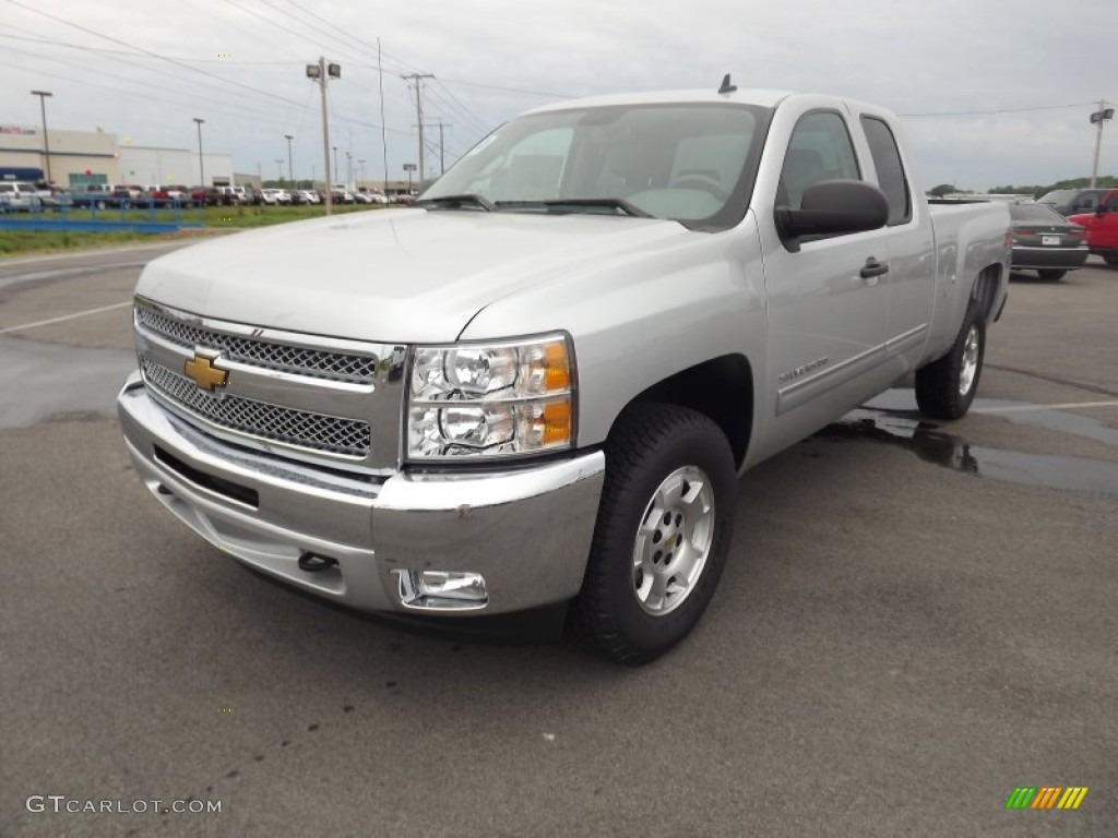 2012 Silverado 1500 LT Extended Cab - Silver Ice Metallic / Light Titanium/Dark Titanium photo #1