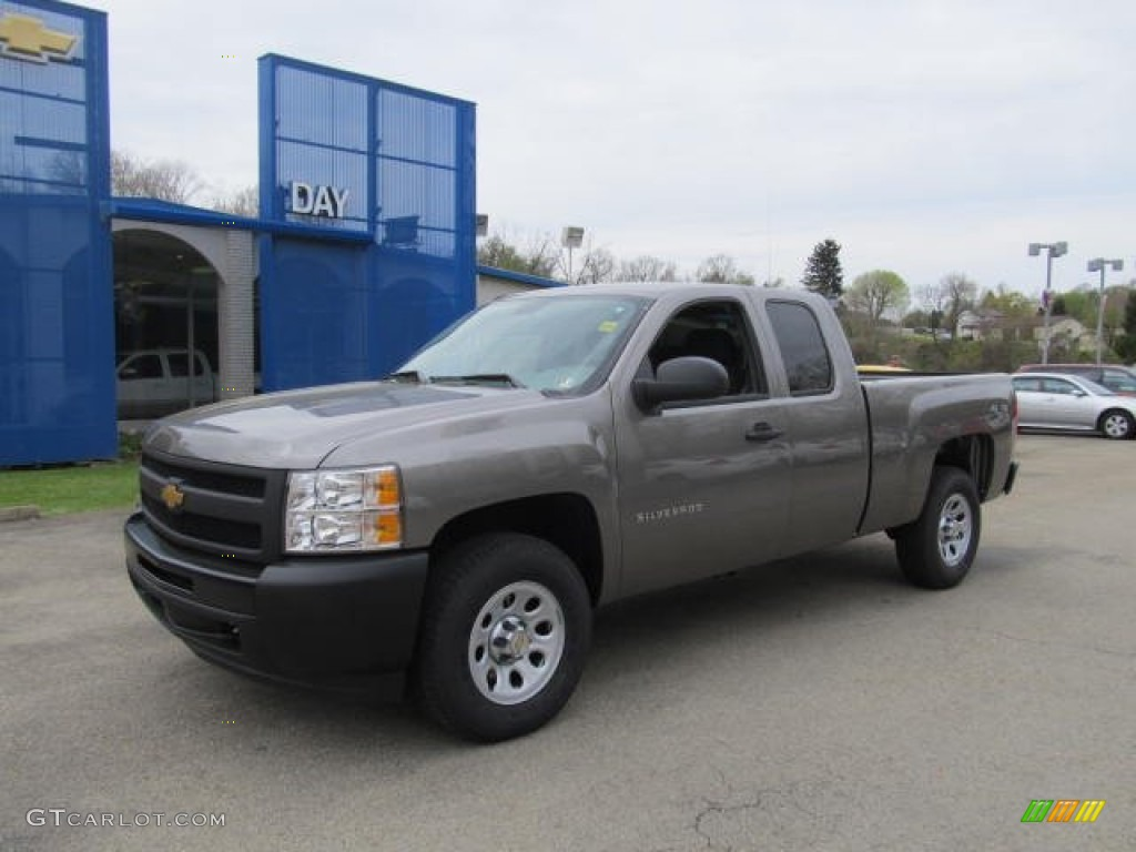 2012 Silverado 1500 Work Truck Extended Cab 4x4 - Graystone Metallic / Dark Titanium photo #1
