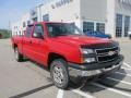 2006 Victory Red Chevrolet Silverado 1500 LS Extended Cab 4x4  photo #9