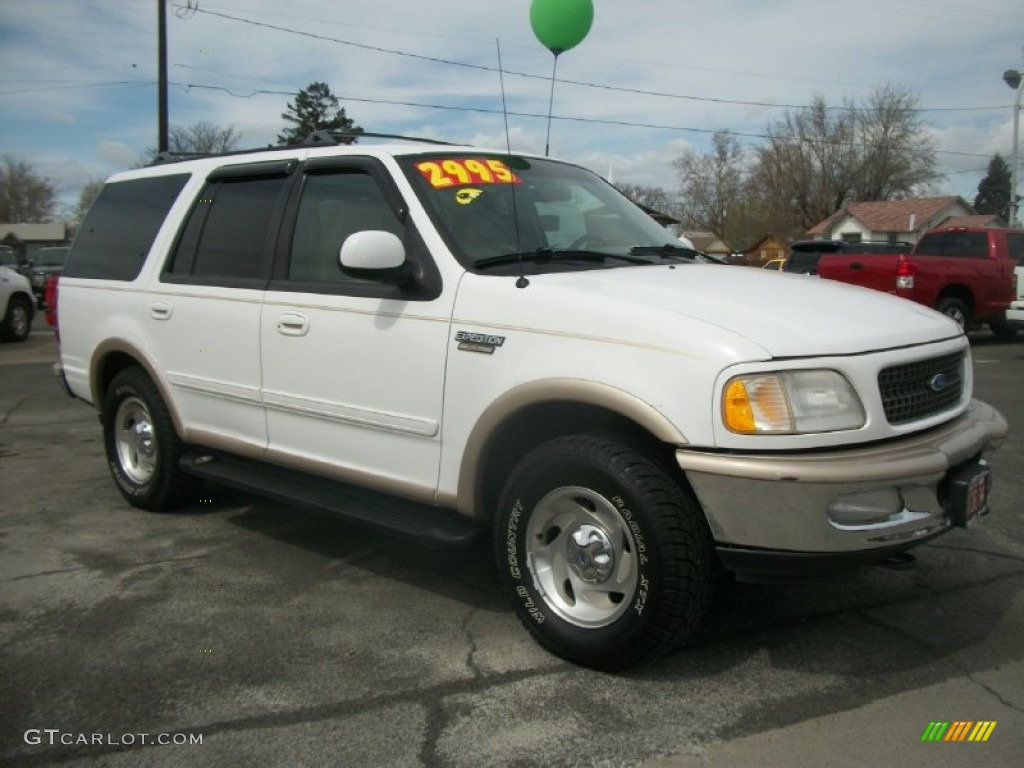 1997 oxford white ford expedition eddie bauer 4x4 63978479 car color galleries. Black Bedroom Furniture Sets. Home Design Ideas