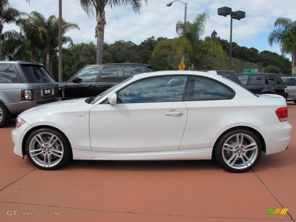 alpine white 2012 bmw 1 series 135i coupe exterior photo #63995000