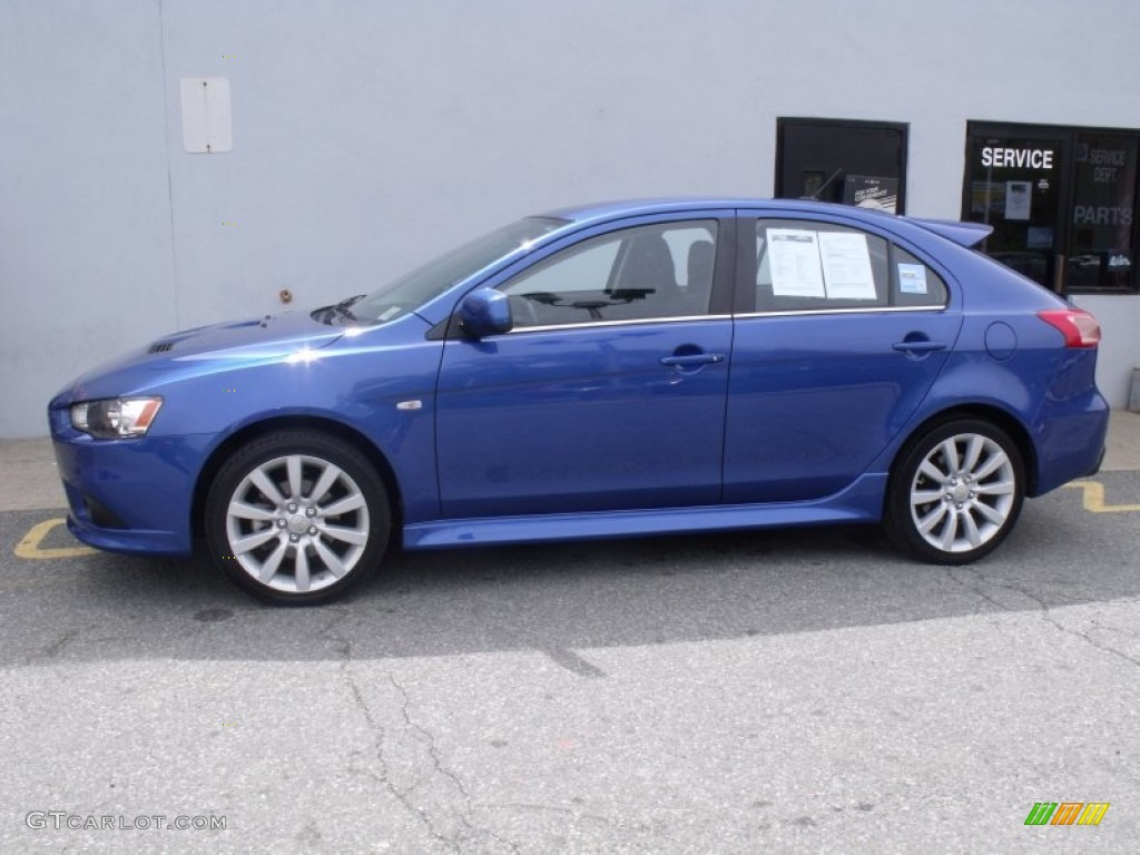 Octane Blue Metallic 2010 Mitsubishi Lancer Sportback Ralliart Awd Exterior Photo 63998192