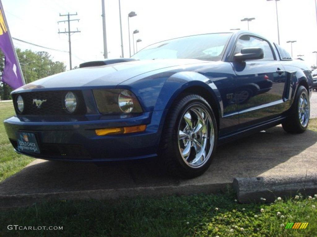 2007 Mustang GT Premium Coupe - Vista Blue Metallic / Light Graphite photo #1