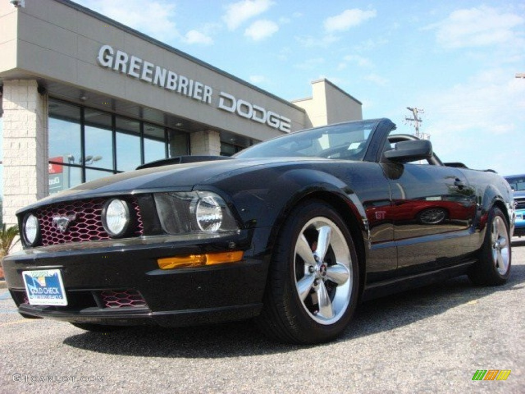2007 Mustang GT Premium Convertible - Black / Dark Charcoal photo #1