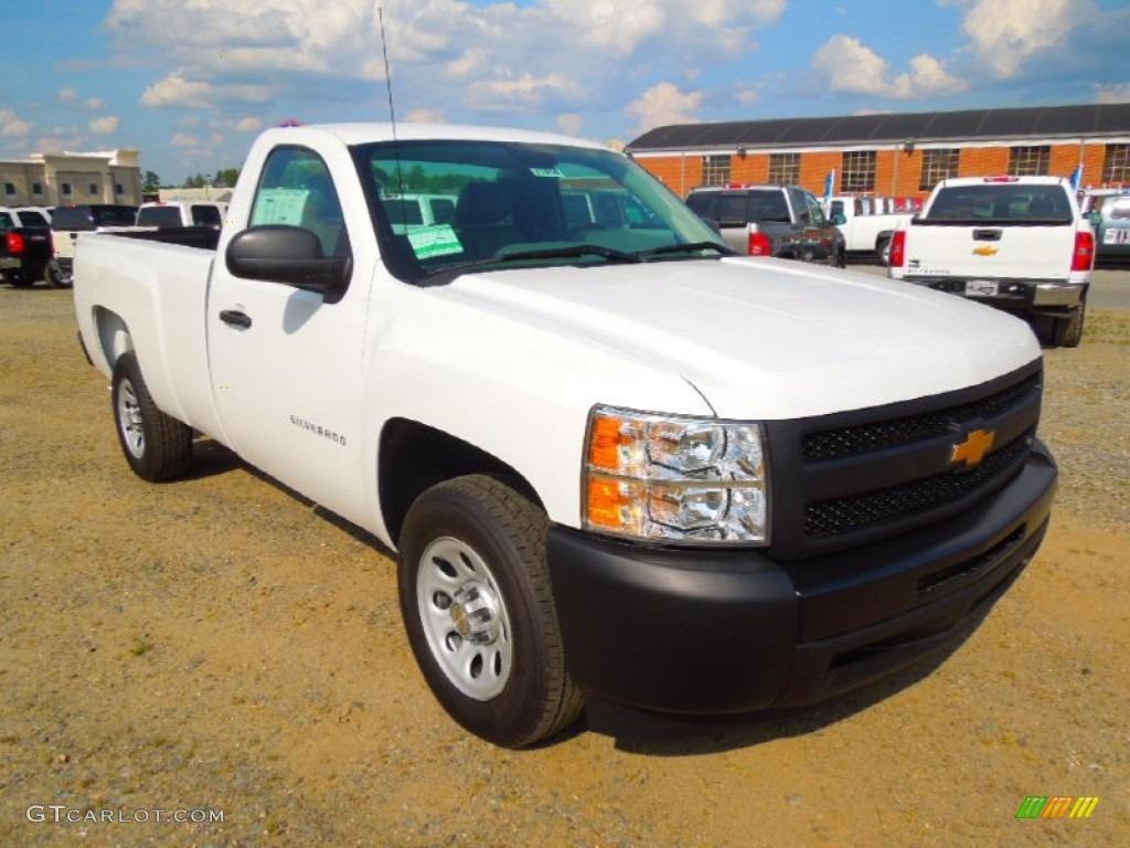 2012 Silverado 1500 Work Truck Regular Cab - Summit White / Dark Titanium photo #1