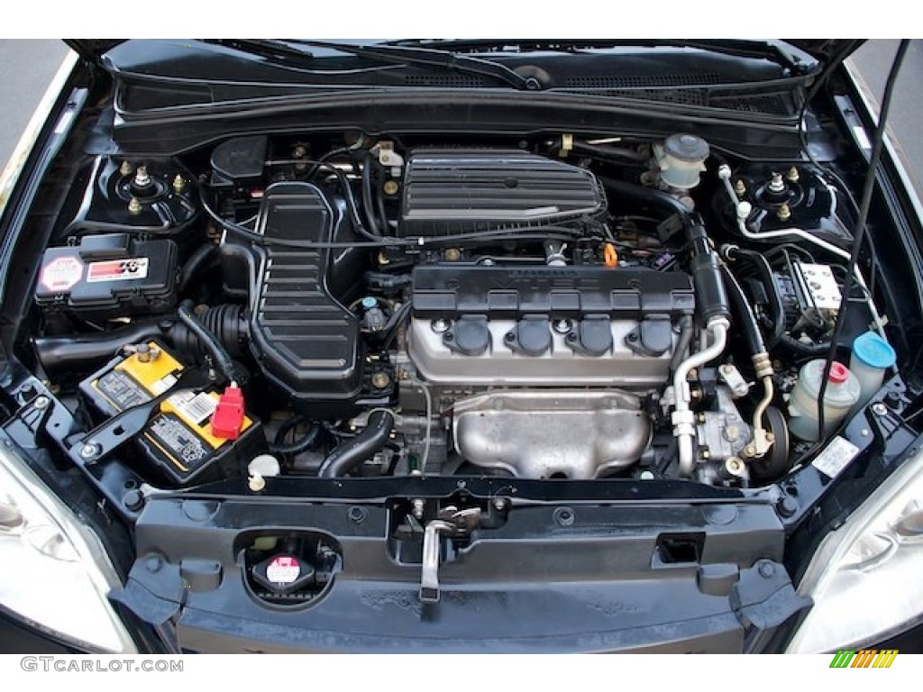 2003 Honda Civic Ex Sedan 1 7 Liter Sohc 16v Vtec 4 Cylinder Engine Photo 64023471 Gtcarlot Com