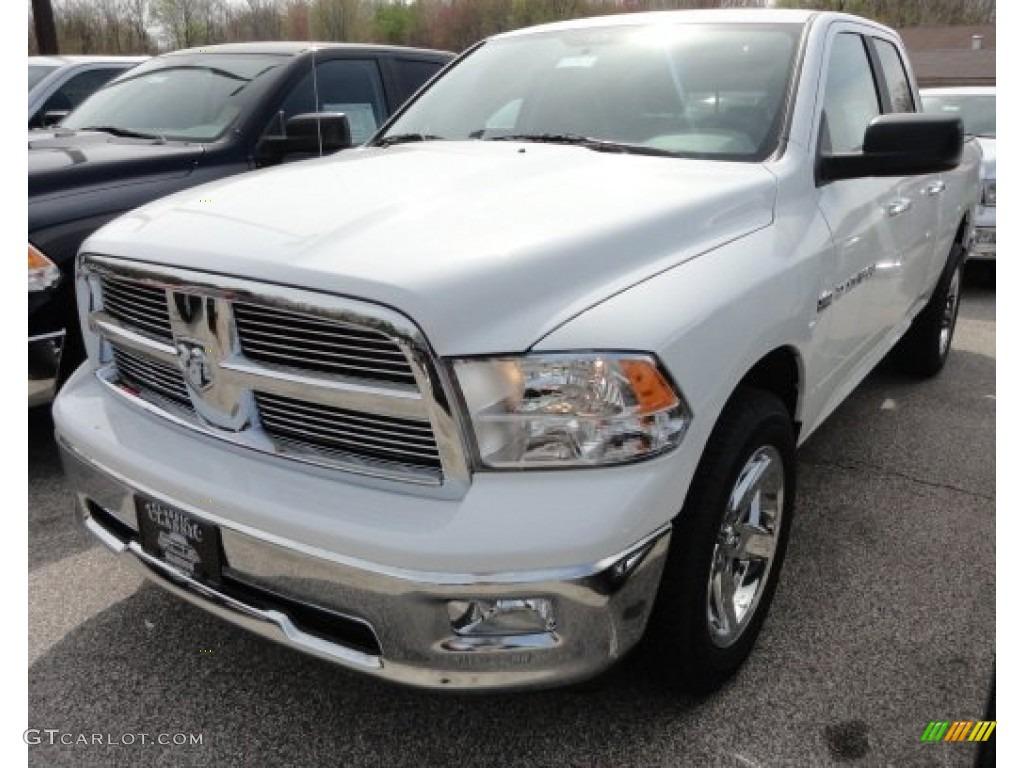 2012 Ram 1500 Big Horn Quad Cab 4x4 - Bright White / Dark Slate Gray/Medium Graystone photo #1