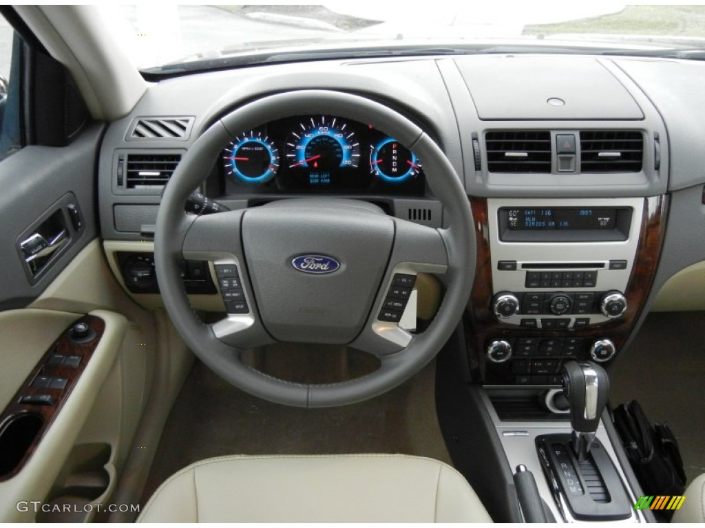 2017 Ford Fusion Sel V6 Medium Light Stone Dashboard Photo 64053730