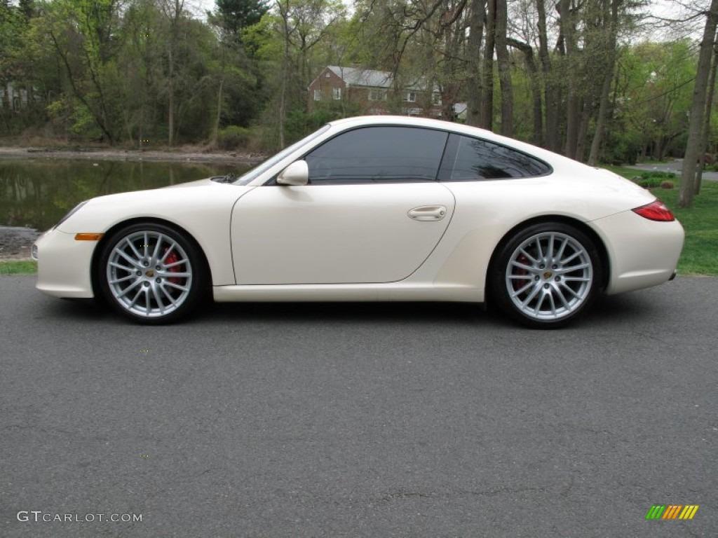 Cream White 2009 Porsche 911 Carrera S Coupe Exterior Photo 64061365 Gtcarlot Com
