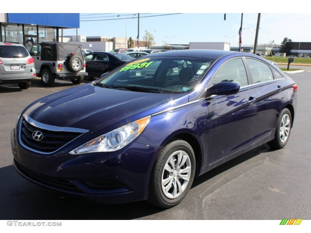 2012 hyundai sonata gls indigo night blue color gray interior. Black Bedroom Furniture Sets. Home Design Ideas