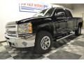 2012 Black Chevrolet Silverado 1500 LS Extended Cab 4x4  photo #10