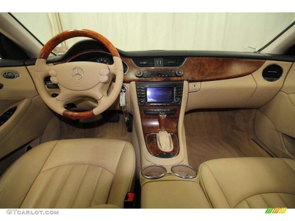 2006 mercedes benz cls 500 cashmere beige dashboard photo 64067921. Black Bedroom Furniture Sets. Home Design Ideas
