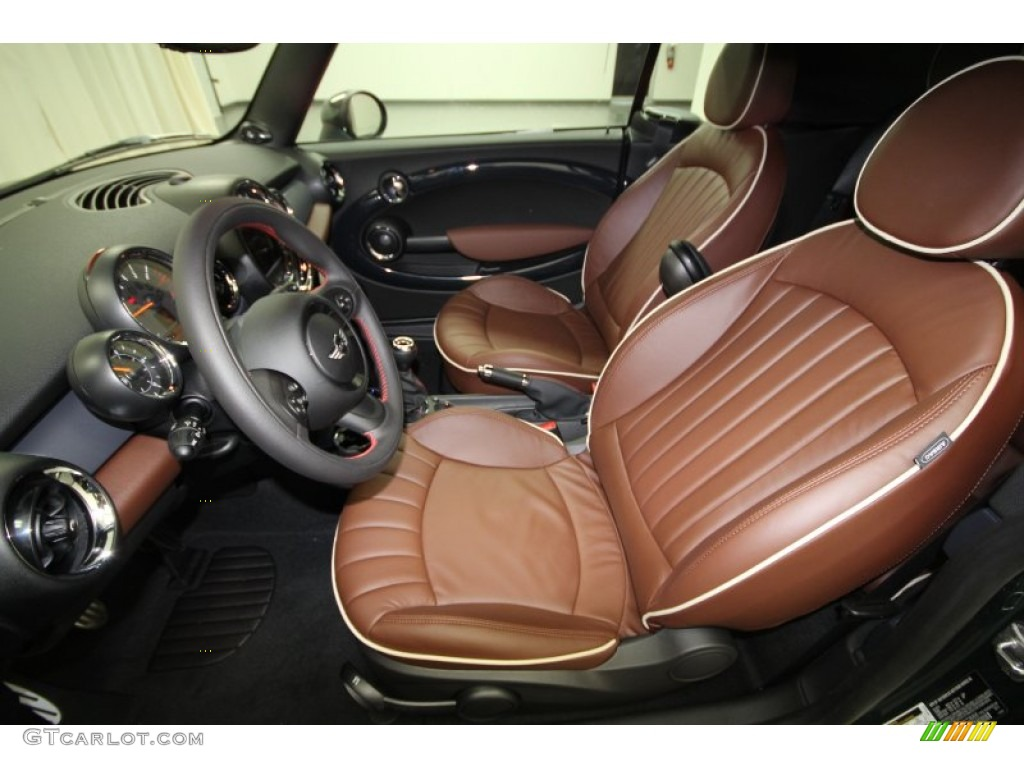 hot chocolate lounge leather interior 2012 mini cooper john cooper works convertible photo. Black Bedroom Furniture Sets. Home Design Ideas
