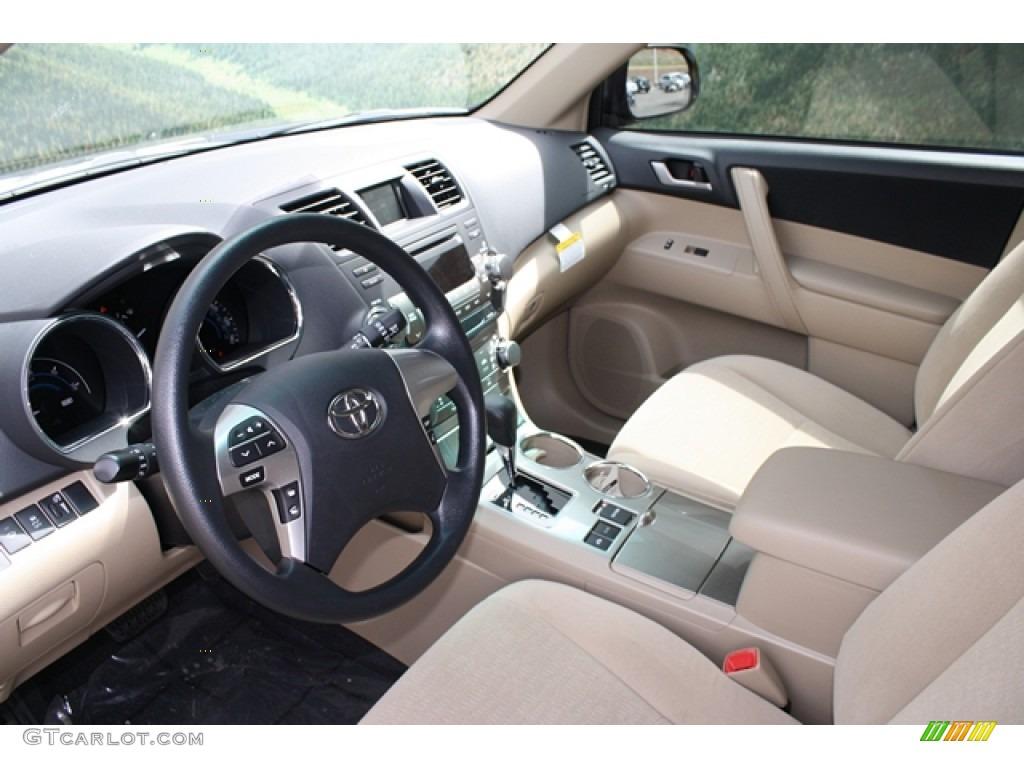 Sand Beige Interior 2012 Toyota Highlander Hybrid 4WD Photo #64084727 ...