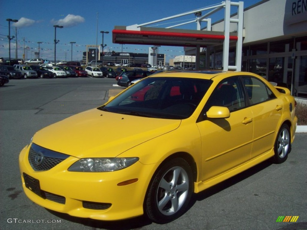 speed yellow 2003 mazda mazda6 s sedan exterior photo 64110783. Black Bedroom Furniture Sets. Home Design Ideas
