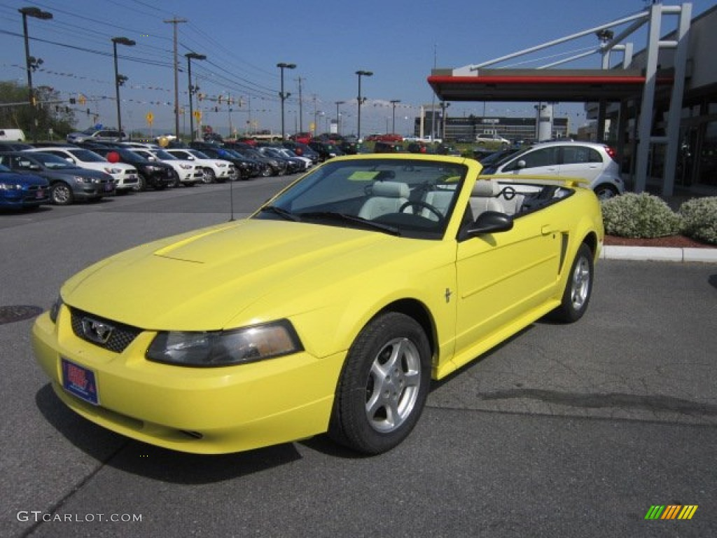 zinc yellow 2003 ford mustang v6 convertible exterior. Black Bedroom Furniture Sets. Home Design Ideas