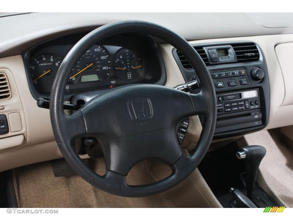 1999 honda accord lx v6 coupe tan steering wheel photo 64130455. Black Bedroom Furniture Sets. Home Design Ideas