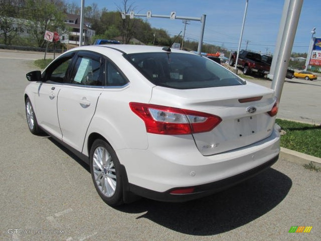 2012 Focus SEL Sedan - White Platinum Tricoat Metallic / Charcoal Black Leather photo #6