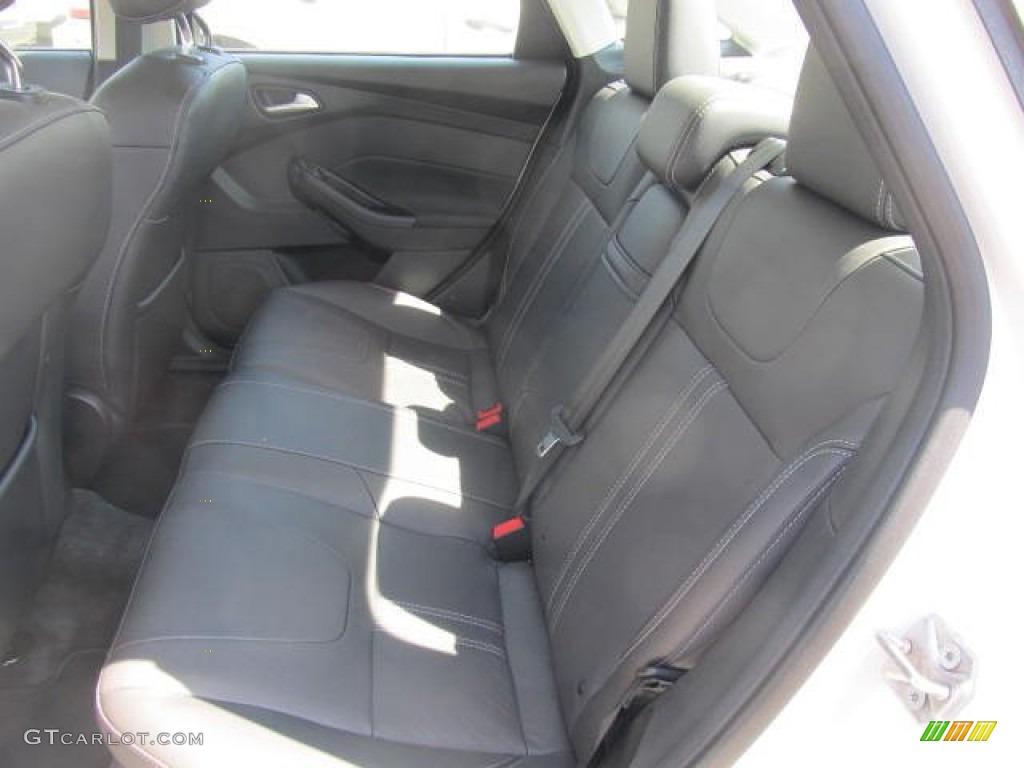 2012 Focus SEL Sedan - White Platinum Tricoat Metallic / Charcoal Black Leather photo #9