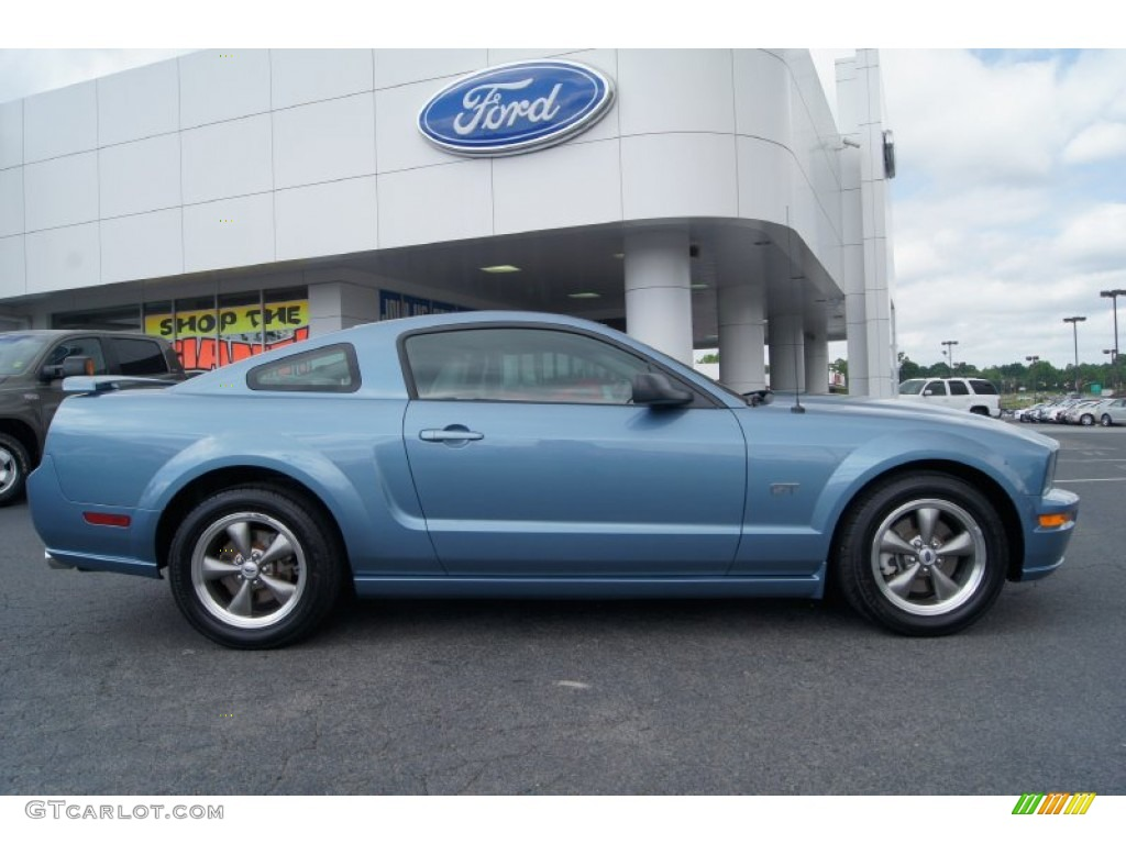 2006 Mustang GT Premium Coupe - Windveil Blue Metallic / Light Graphite photo #1