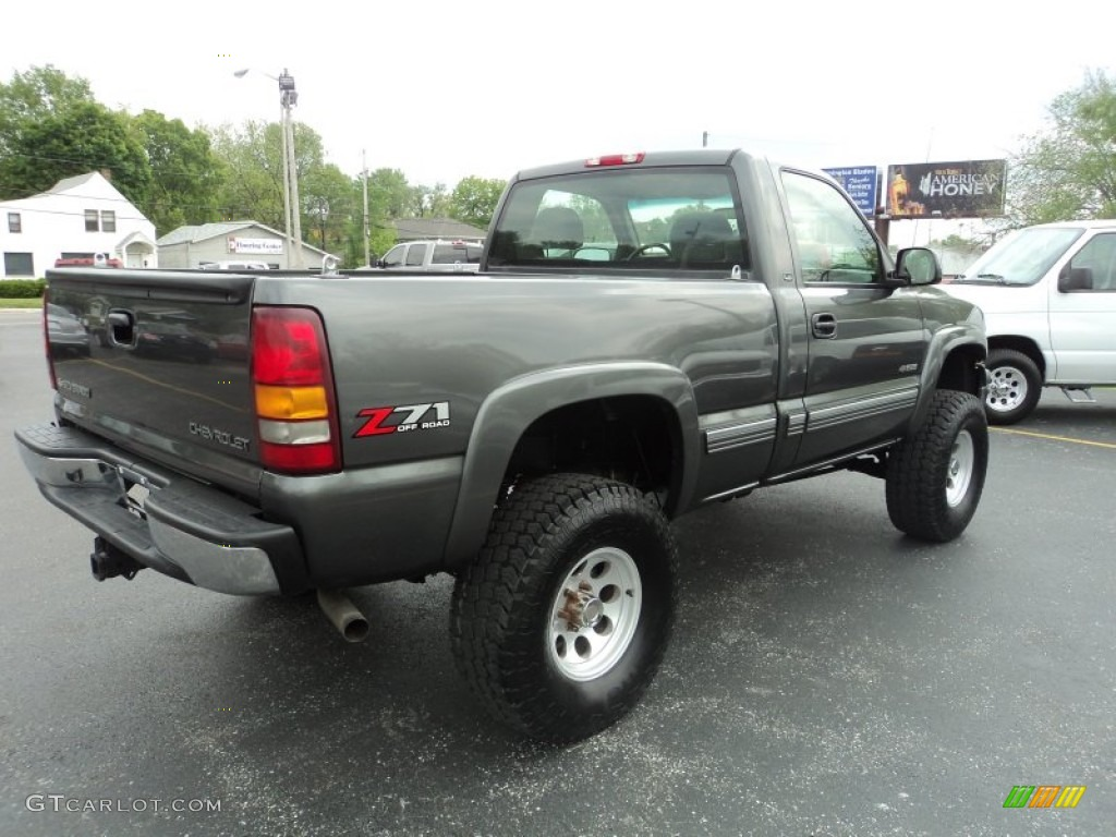 2002 Silverado 1500 LS Regular Cab 4x4 - Medium Charcoal Gray Metallic / Graphite Gray photo #3