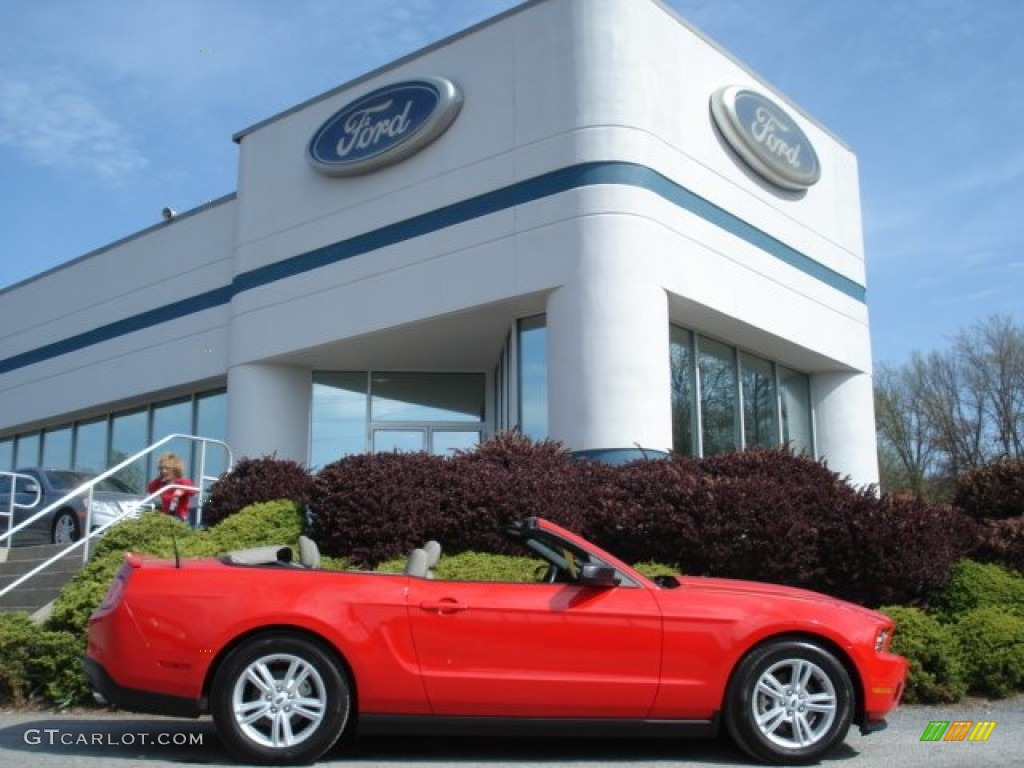2011 Mustang V6 Convertible - Race Red / Stone photo #1