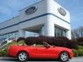 2011 Race Red Ford Mustang V6 Convertible  photo #1