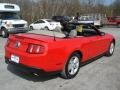 2011 Race Red Ford Mustang V6 Convertible  photo #8