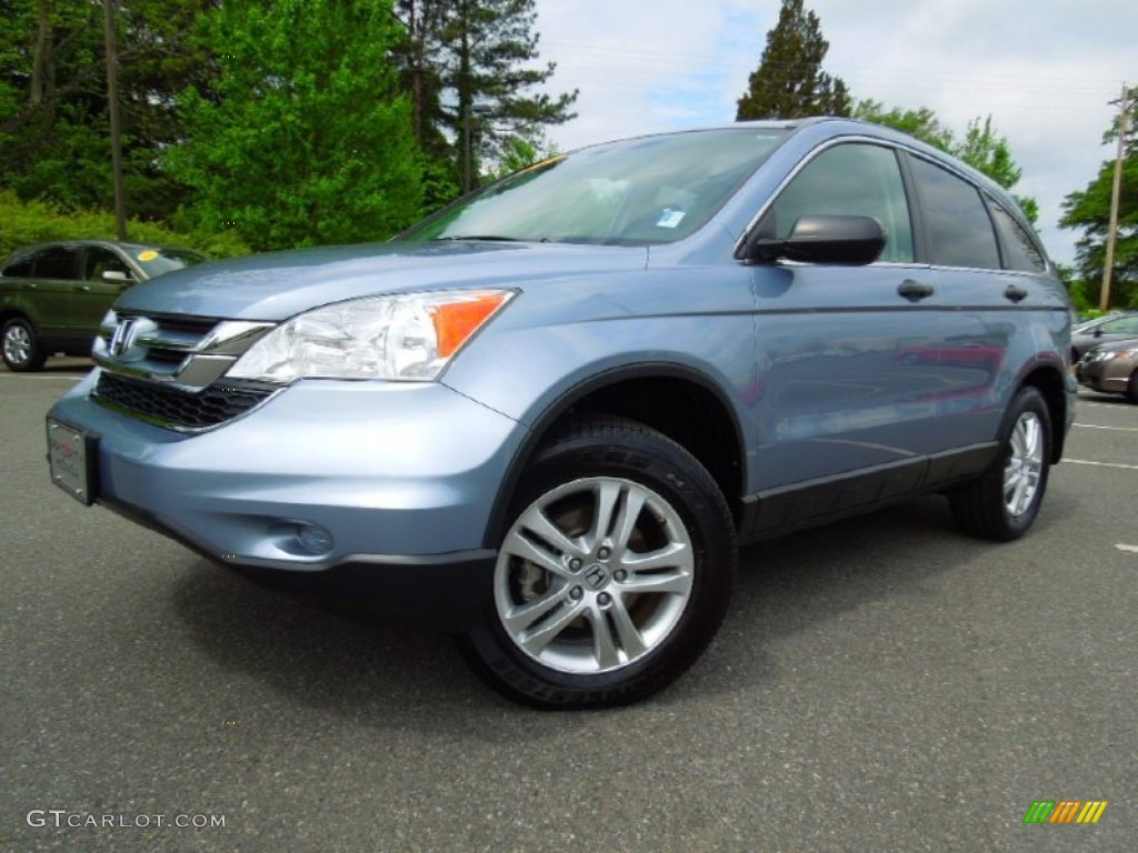 2010 CR-V EX - Glacier Blue Metallic / Gray photo #1