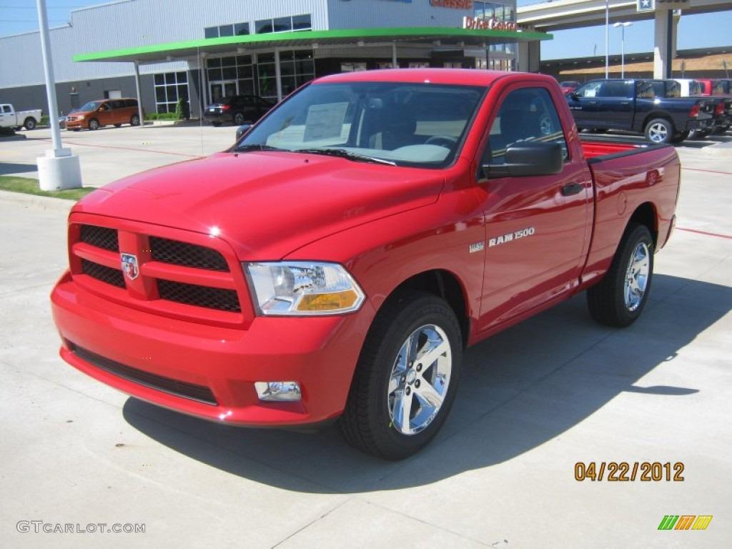 2012 Flame Red Dodge Ram 1500 Express Regular Cab 64188349