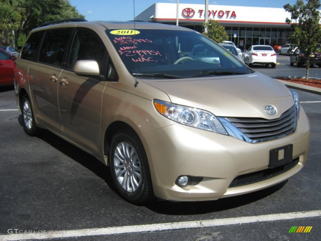 2011 Sienna XLE - Sandy Beach Metallic / Bisque photo #1