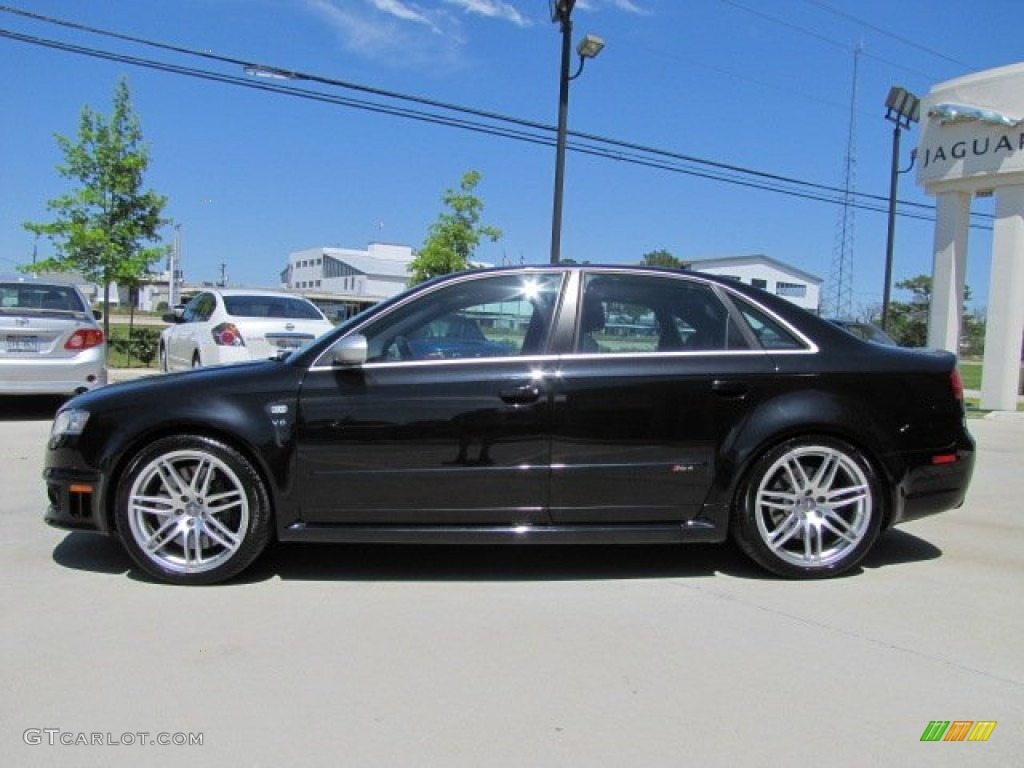 Phantom Black Pearl Effect 2007 Audi Rs4 4 2 Quattro Sedan