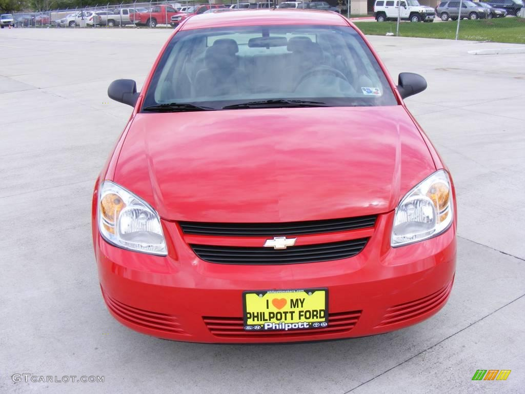 2007 Cobalt LS Sedan - Victory Red / Gray photo #3