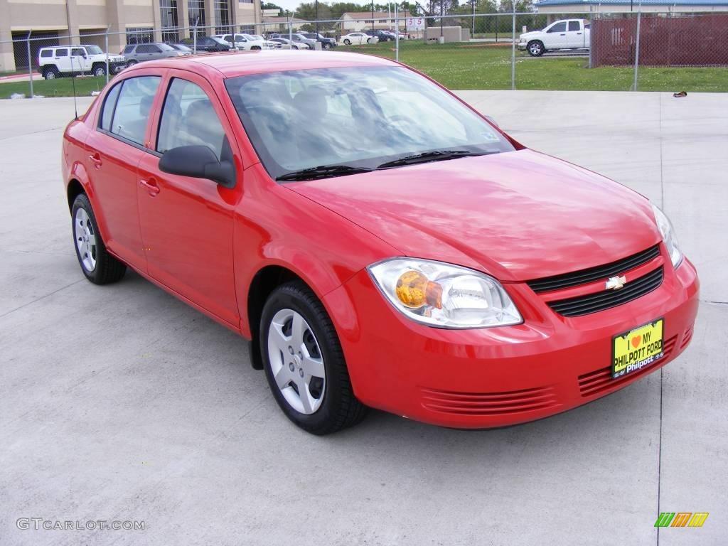 2007 Cobalt LS Sedan - Victory Red / Gray photo #4