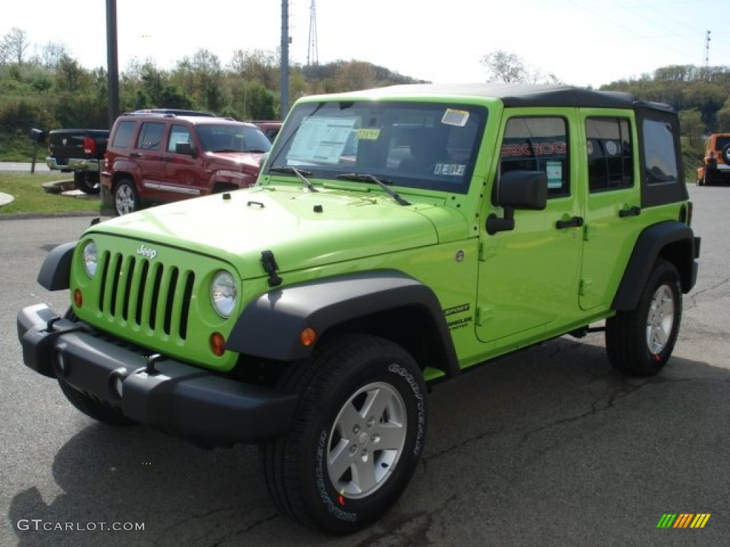 Gecko Green 2012 Jeep Wrangler Unlimited Sport S 4x4 Exterior Photo 64244561